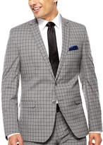 Asstd National Brand Nick Graham Grey Windowpane Slim Suit Set