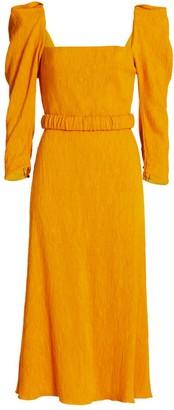 Johanna Ortiz Lotus & Beetle Sash Midi Dress