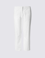 Classic Pure Cotton Cropped Trousers
