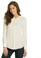 NYDJ Basic Button Front Blouse