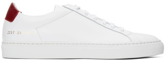 Common Projects White and Red Retro Low Sneakers