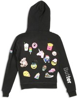 Butter Shoes Girls' Multi Patch Fleece Hoodie - Sizes 4-6