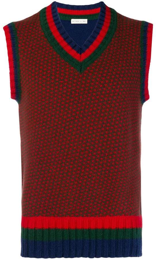 Etro spotted sweater vest
