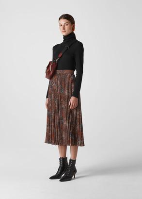 Abstract Animal Longline Skirt