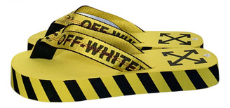 Off-White Yellow Rubber Sandals