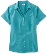 L.L. Bean L.L.Bean Wrinkle-Free Poplin Shirt, Short-Sleeve