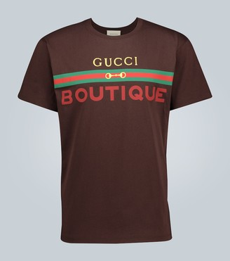 Gucci Boutique printed cotton T-shirt
