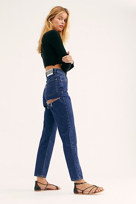 Free People The Ragged Priest Back Slash Mom Jeans at