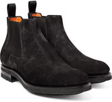 Santoni - Burnished-suede Chelsea Boots