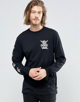 Vans Van Doren Approved Ls T-shirt In Black Va2yqtblk