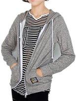 Mullsan® Women's Junior's Light Weight Full Zip Front Jacket Hoodie Hooded Sweatshirt
