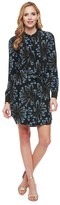 Juicy Couture Silk Sea Spray Floral Shirt Dress