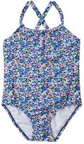 Carter's Baby Girl Floral Ruffled-Back One-Piece Swimsuit