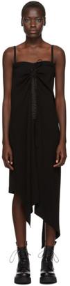McQ Black Drawstring Strap Dress
