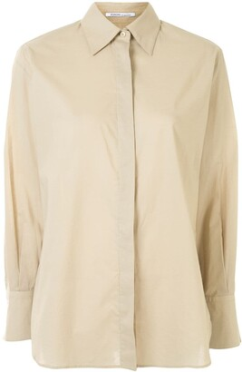Agnona Longline Classic Collar Shirt