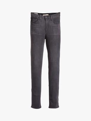 Levi's 724 High Rise Straight Jeans, Black Cloud