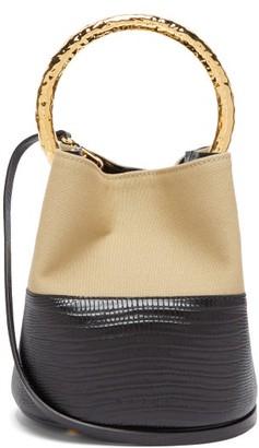 Marni Pannier Lizard-embossed Leather Bucket Bag - Black Multi