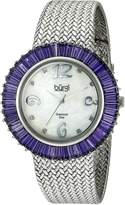 Burgi Women's BUR076BU Diamond and Baguette Bracelet Watch
