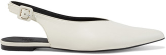Iris & Ink Valerie Leather Slingback Point-toe Flats