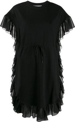 See by Chloe Ruffled Drawstring-Waist Dress