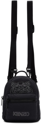 Kenzo Black Mini Tiger Backpack
