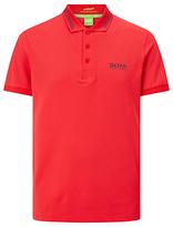 Hugo Boss Boss Green Pro Golf Paule Pro 1 Stripe Collar Polo Shirt, Open Red