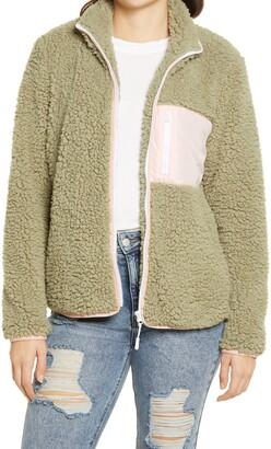 Thread & Supply Colorblock Fleece Zip-Up Jacket