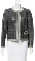 Chanel Leather Camellia Jacket