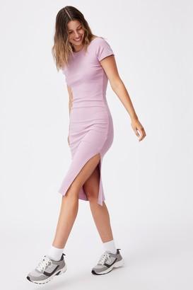 Cotton On Essential Split Short Sleeve Midi Dress