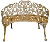 Channel Enterprises Patio Benches Duchess Iron Curved Bench