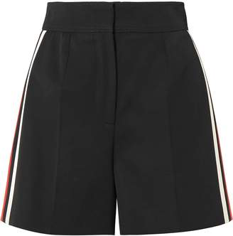 Alexander McQueen Striped Wool Shorts