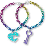 Children's Place Girls 'Best' Heart and 'Friends' Key Charm Bracelet Set