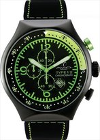 TP Men's 50 MM YELLOW Black PVD Aluminum Case Black and Yellow Dial Chronograph Tachymeter Date Watch