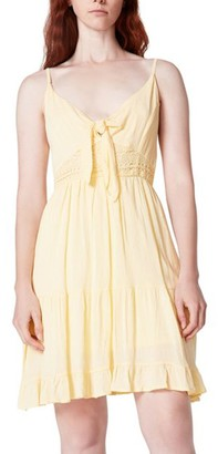 Steve Madden Mini Skater Dress Yellow