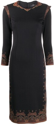 Etro Paisley Trim Dress