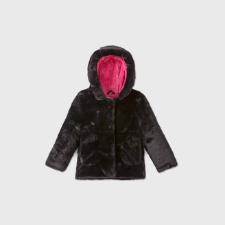 Cat & Jack Toddler Girls' Hooded Fashion Faux Fur Jacket - Cat & JackTM
