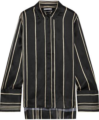 Co Striped Silk-satin Shirt