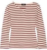 A.P.C. Veronica Striped Cotton-Jersey Top