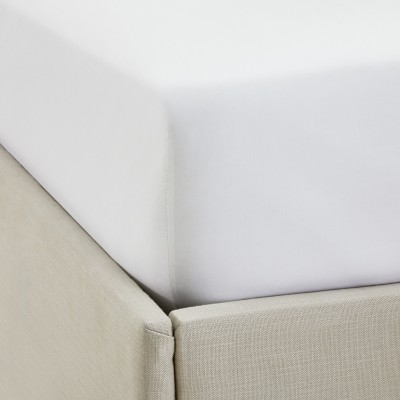 The White Company Single Row Cord Egyptian Cotton Extra Deep Fitted Sheet , White, King