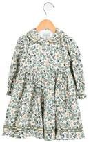 Papo d'Anjo Girls' Floral Print Corduroy Dress