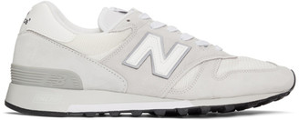 New Balance White Made in US 1300 Sneakers