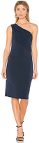 Velvet by Graham & Spencer Elly One Shoulder Dress in Navy. - size S (also in XS)