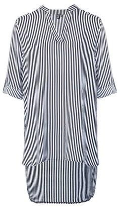 Dorothy Perkins Womens *Izabel London Navy Striped Oversized Shirt, Navy