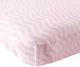 Luvable Friends Pink Chevron Fitted Crib Sheet