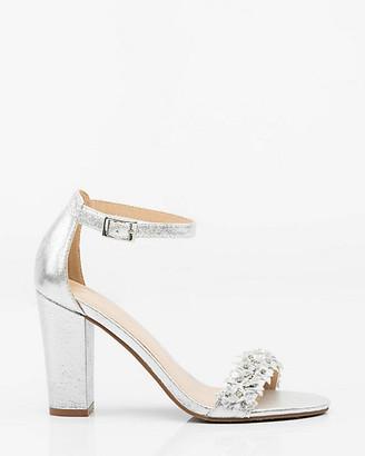 Le Château Jewel Embellished Floral Ankle Strap Sandal