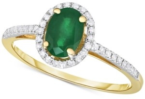 Macy's Sapphire (3/4 ct. t.w.) & Diamond (1/6 ct. t.w.) Ring in 14k White Gold (Also available in Emerald and Certified Ruby)