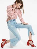 Lucky Brand Bridgette High Rise Cropped Boot Jean With Side Slit