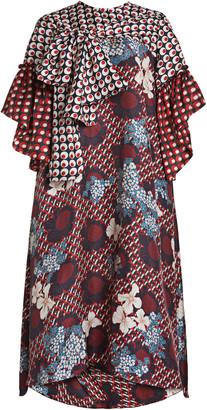 Biyan Likki Printed Silk Dress
