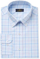 Club Room Men's Classic/Regular Fit Wrinkle Resistant Plaid Dress Shirt, Only at Macy's