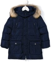 Il Gufo padded coat - kids - Feather Down/Polyamide/Polyester/Racoon Fur - 4 yrs